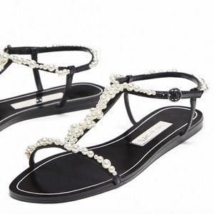 Zara Luxury Pearl Sandals